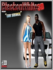 BlackonWhite3D - Car Service, Interracial | Sex And Porn Comics