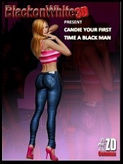 BlackonWhite3D - Candie Your First Time A Black Man | 3D Porn Comics