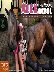 Alex The Young Rebel – ExtremeXWorld   3D Animal Porn Comics