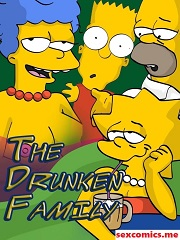 The Drunken Family – The Simpsons Sex Parody – Incest Porn Comics