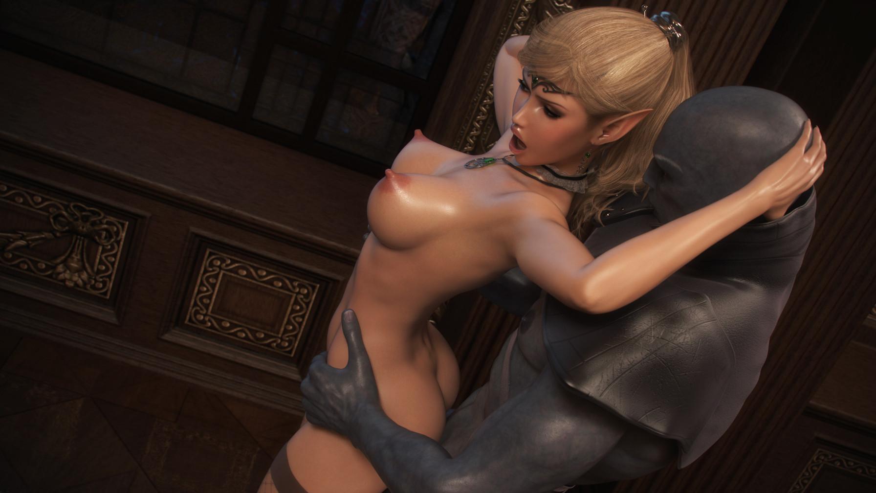 Эльфийка из эротическая игра, Сексуальная эльфийка ебется с орком из игры Warcraft 8 фотография