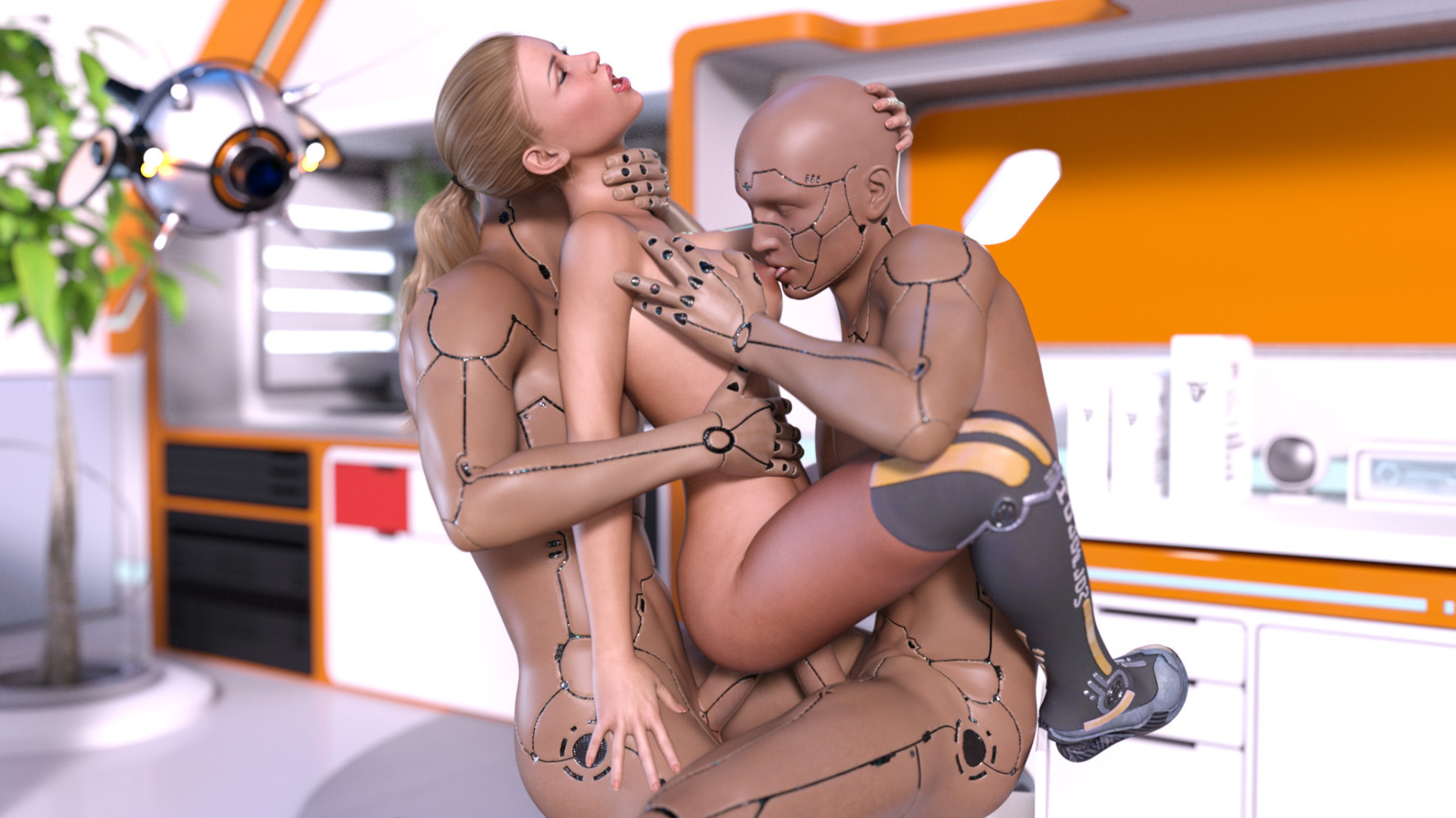 с роботом трахается видео девушка
