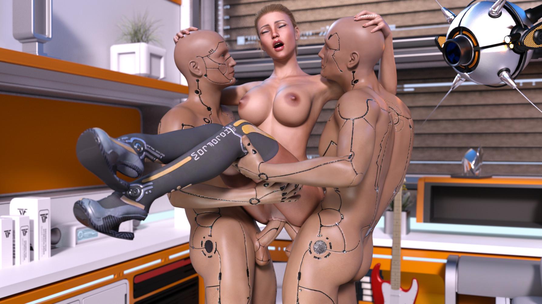 порно-видео с роботом