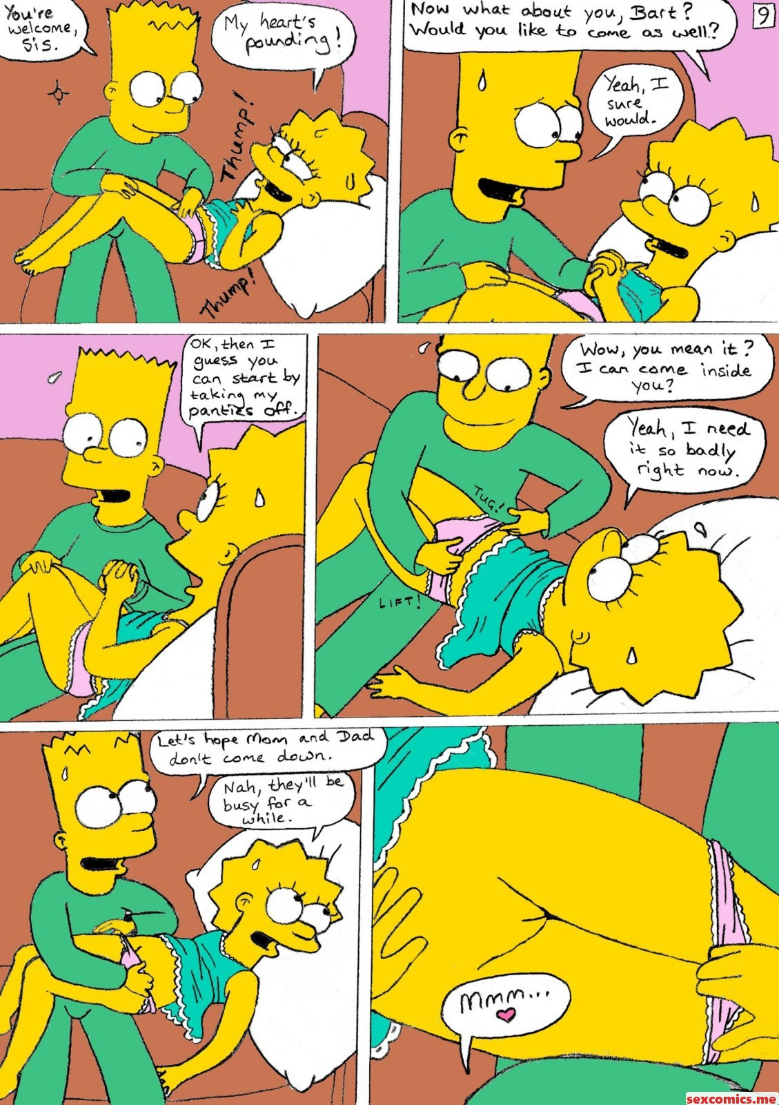 Simpsons comic porn