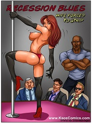 Kaos Comics - Recession Blues - Wife Forced to Strip | Porn Comics