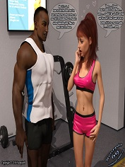 Scorpio69 – The Gym Encounter | Free 3D Interracial Porn Comics