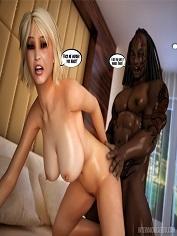InterracialSex3D – Busty Blonde's Interracial Adventure – Sex Comics