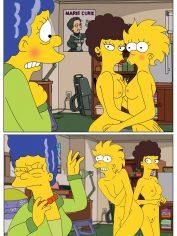 Marge-Lisa Simpson-Valerie-Lesbian