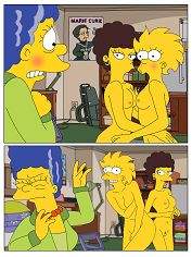 The Simpsons - Marge and Lisa Simpsons With Valerie go Lesbian